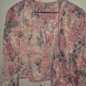 vintage floral blazer
